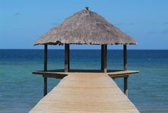Pier on N'gouja beach. Mayotte Stock Image
