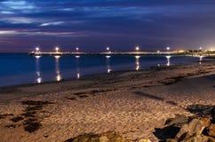 Pier nachts Lizenzfreies Stockfoto