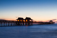 Pier of Naples at twilight Royalty Free Stock Images
