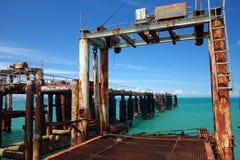 Pier on the Nathon Towm Stock Photo