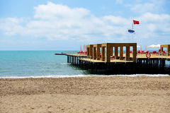 The pier near beach at the luxury hotel Royalty Free Stock Image