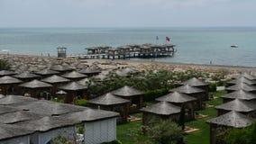 The pier near beach and villas at the luxury hotel Stock Photos