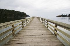 Pier near Deception Pass Stock Image