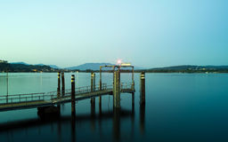 Pier at night Royalty Free Stock Images