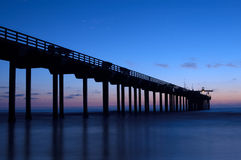 Pier at night. Scripps Pier of San Diego at night Royalty Free Stock Photography