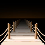Night pier Royalty Free Stock Photography