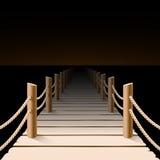 Night pier. Pier at night vector illustration Royalty Free Stock Photography