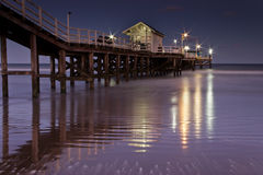 Pier night stock images