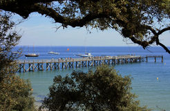 Pier in Noirmoutier Stockbilder