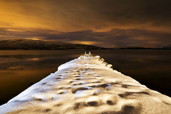 Pier in Norwegen Lizenzfreie Stockbilder