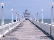 Pier with observation tower royalty free stock photo