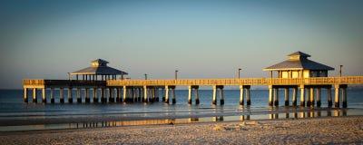 Pier in the ocean Stock Image