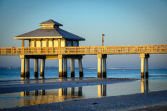 Pier in the ocean Royalty Free Stock Image