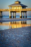 Pier in the ocean Royalty Free Stock Photo