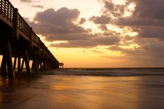 Pier Ocean and Horizon Royalty Free Stock Image