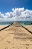 Pier into the ocean Saona Domenican Republic Stock Photography