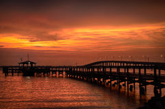 Pier in the ocean Stock Photography