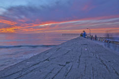 Pier Ocean Sunset Royalty Free Stock Images