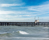 Pier in ocean Royalty Free Stock Image