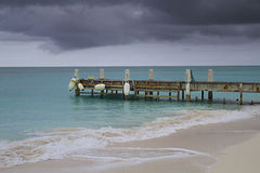 Pier in the ocean Stock Image