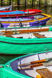 Pier with old boats in Harlingen Royalty Free Stock Image