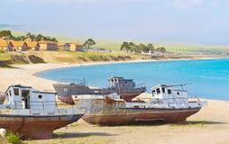 Pier Olkhon Island - der Baikalsee Lizenzfreie Stockbilder