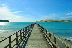 Pier at Omapere, New Zealand Stock Photo