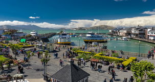 Pier 39 is one of the turist landmarks of San Francisco stock video footage