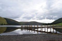 Pier op Loch royalty-vrije stock foto