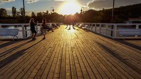 Pier in Orlowo Stock Images