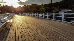 Pier in Orlowo Stock Photography