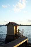 Pier outhouse Royalty Free Stock Images