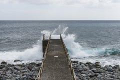 Pier over the Atlantic ocean Stock Photos
