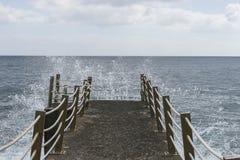 Pier over the Atlantic ocean Stock Photo