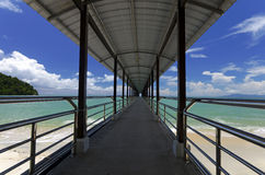 Pier over the beach. In Penang island, Malaysia Stock Photography