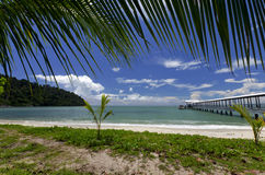 Pier over the beach. In Penang island, Malaysia Stock Images