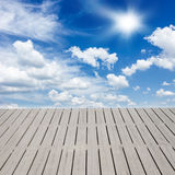 Pier over clouds Stock Photography