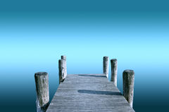 Pier  over infinite Stock Photo