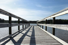 Pier over a lake Stock Photography