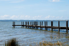 Pier over St Lucia Lake, South Africa Stock Photos