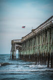 Pier over Waves Royalty Free Stock Images