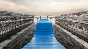 Pier overview of a bench Royalty Free Stock Image