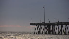 Pier on the Pacific stock footage