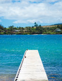 Pier in Pacific Ocean in Hawaii Royalty Free Stock Photo
