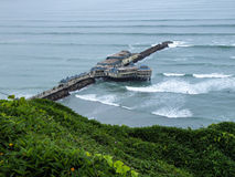 Pier in Pacific Ocean Royalty Free Stock Image