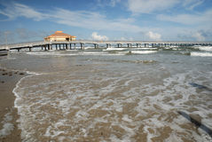 Pier on Padre Island, Southern Texas Stock Photography