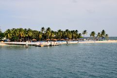 Pier at Palomino. Pier serving as the port of entrance to the small island of Palomino in Puerto Rico Stock Photography