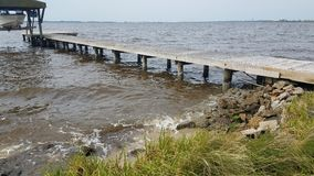 Pier. Pamlico river, bath north carolina, river, river shore stock photos