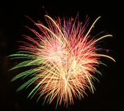 Panama City Beach Fourth of July, Fireworks royalty free stock photo