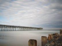 Pier in Pawleys-Insel stockbilder